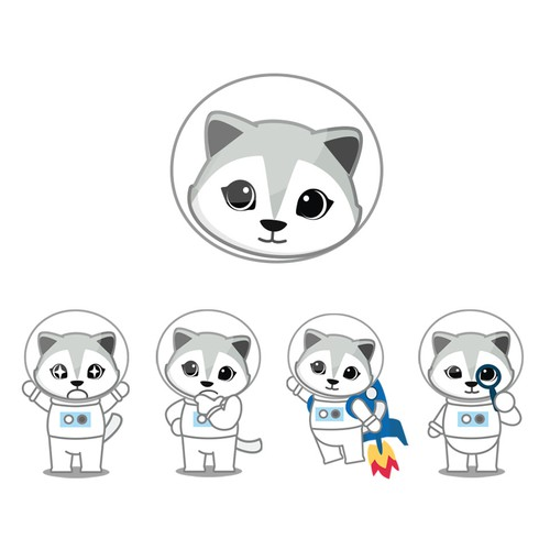 Arctic Fox Character Design