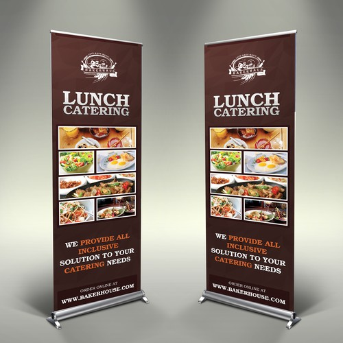 "Stand Up Poster to Advertise Catering Capabilty for ""Working"" Lunch"