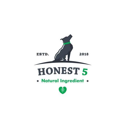 Logo for Honest 5 natural dog treats