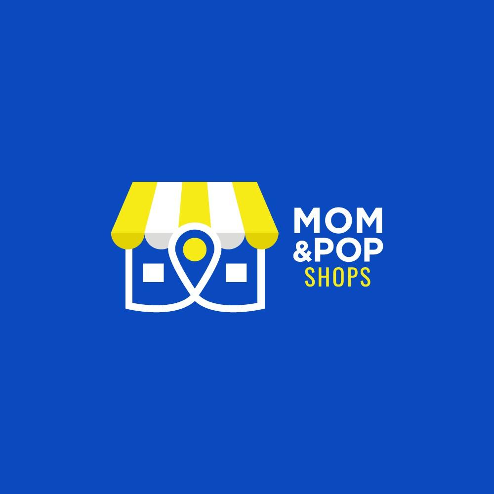 Modern urban logo for mom and pop shops