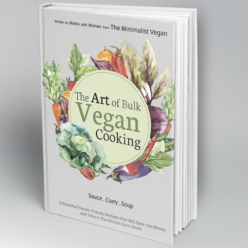 A bookcover in for the vegan blog