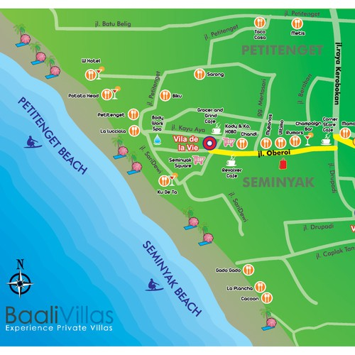 business or advertising for Baali Villas