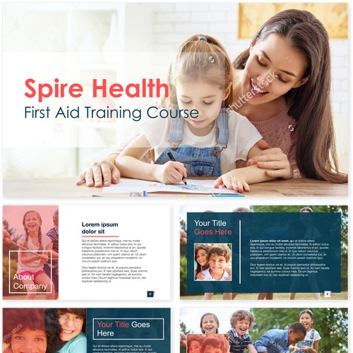 powerpoint design for Spire Health