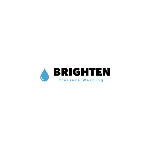 Logo concept for Brighten Pressure Washing