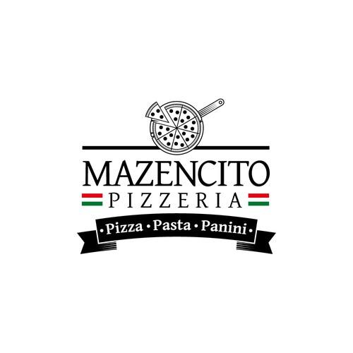 Logo para pizzaria classe A em NY, EUA