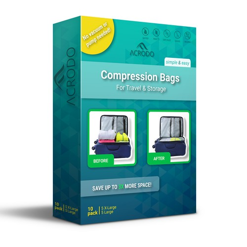 Packaging for Roll-up Compression Bags
