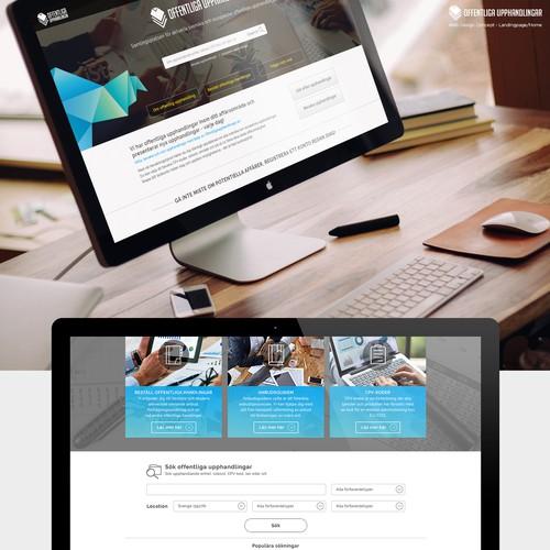 Webpage design for public procurements listings