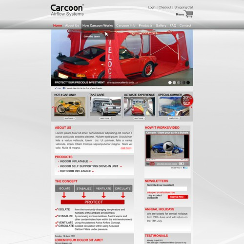 New website design wanted for Carcoon