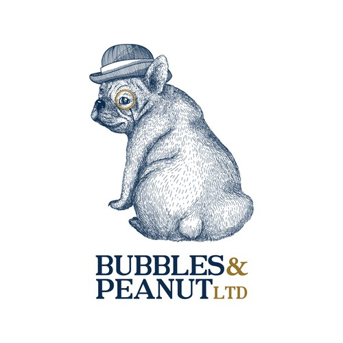Bubbles & Peanut LTD Logo design