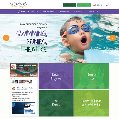 Web design for Kindergarten