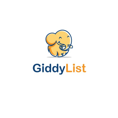 Create a fun logo for a new online gift giving service called GiddyList!