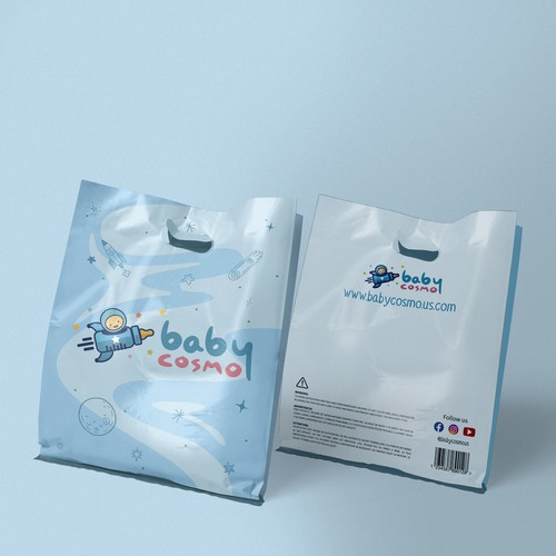 Design a warm and attractive packaging for Baby Cosmo