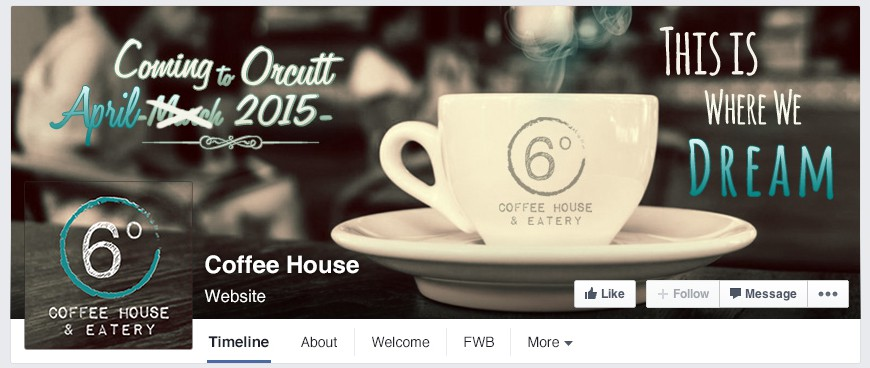 Creative a Coming Soon Facebook cover and profile pic for Coffee House