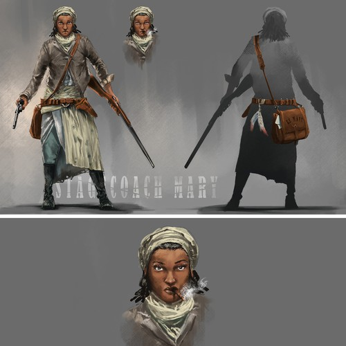 Stagecoach Mary Early Concept Art