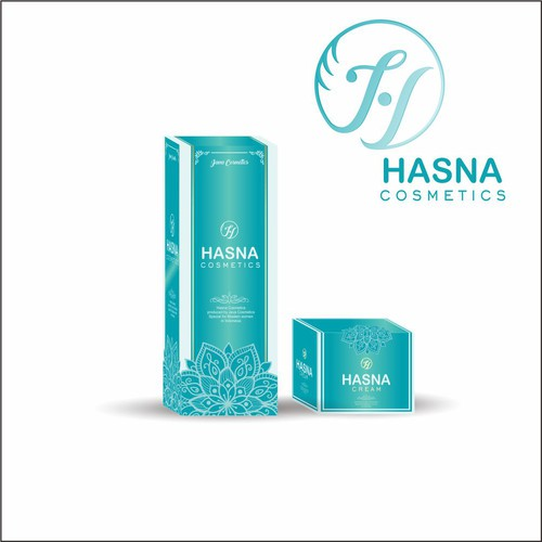Hasna Cosmetics Packaging
