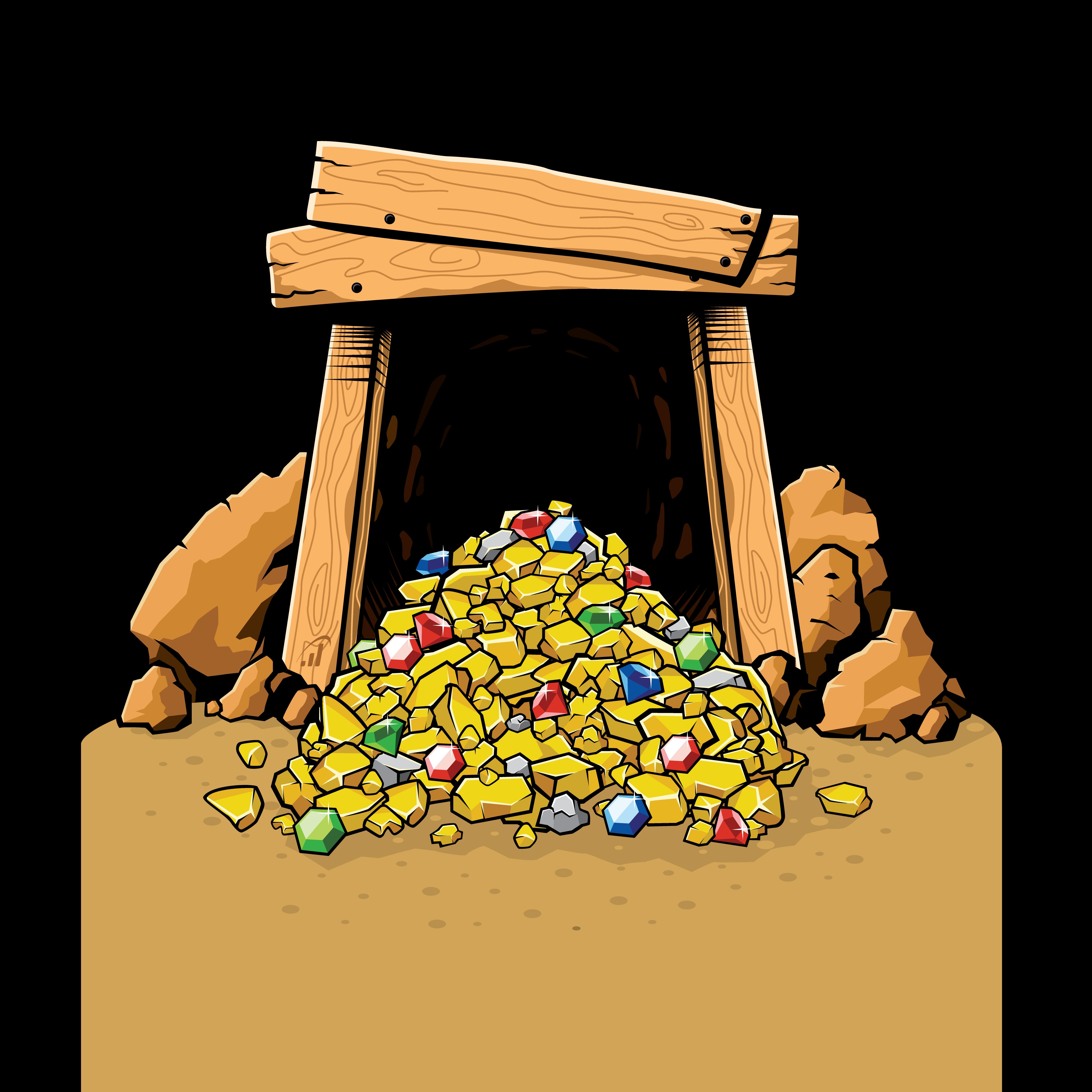 rivansyam - gold silver nugget pile