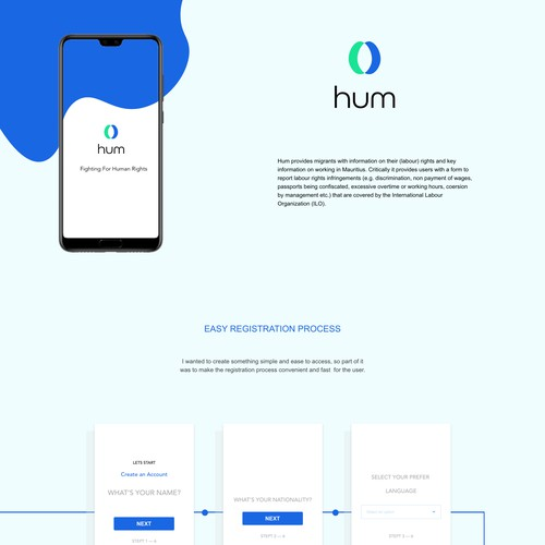 App and Identity Design for Hum
