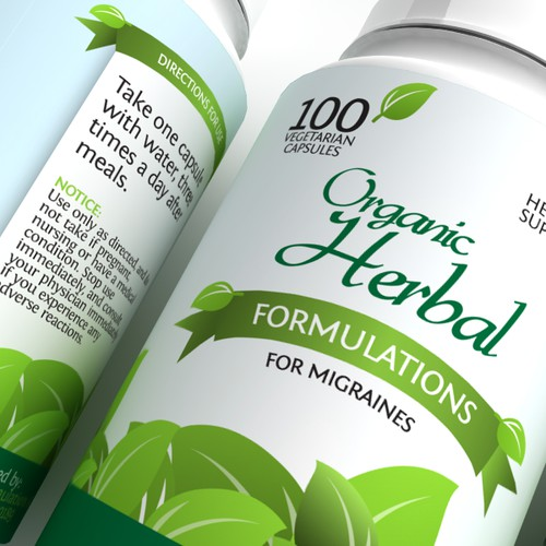 Organic Supplement Label
