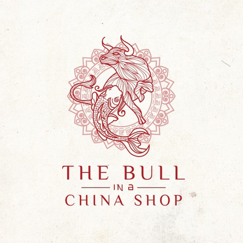 Create a sexy and elegant design package for The Bull in a China Shop, An elegant Asian Izakaya