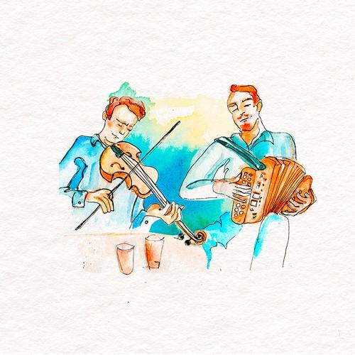 Watercolor Illustration/informal logo