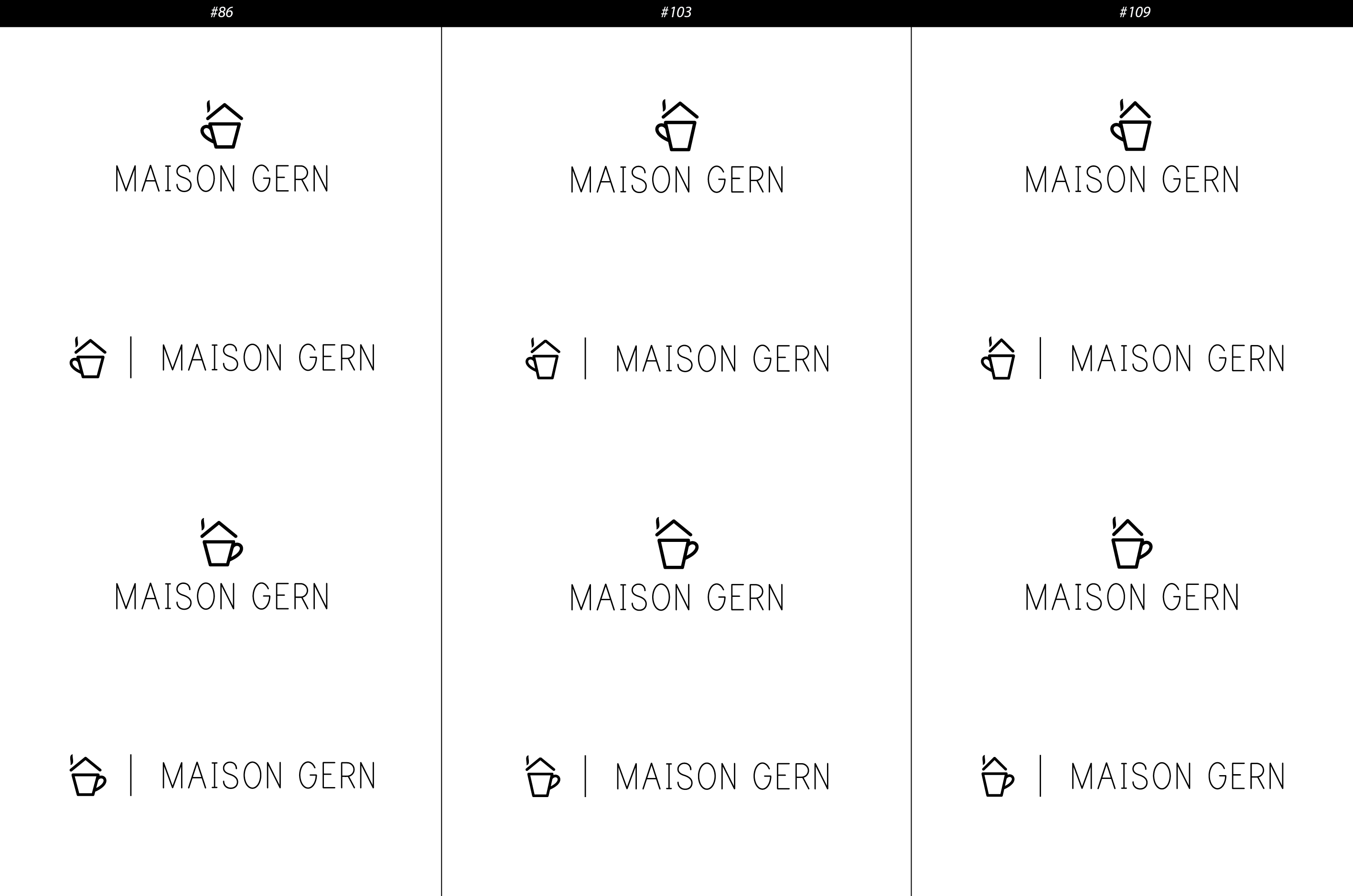 Maison Gern offers Coffee and Tea - but different and we need a Logo to show that.