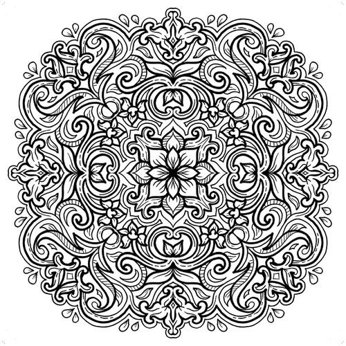 Batik Mandala Coloring Book