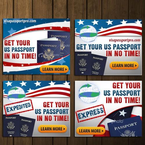 Create the next banner ad for Visa Passport Pro
