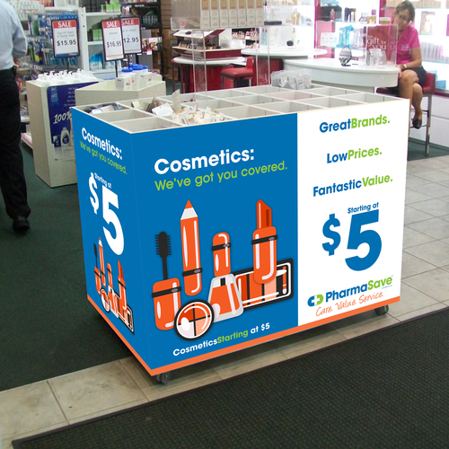 Graphics for BARGAIN COSMETICS - PHARMACY needs a new print or packaging design