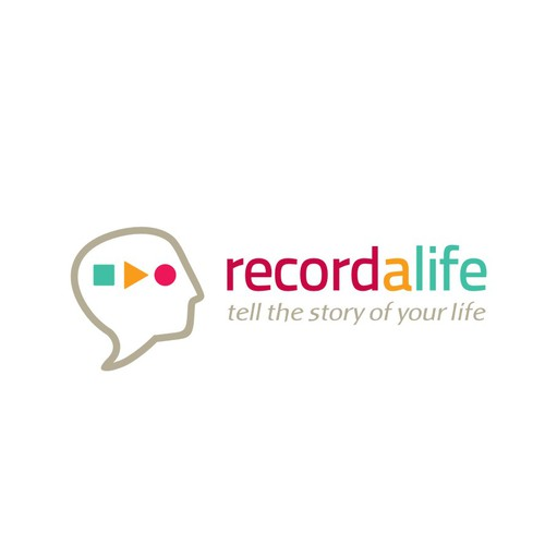 Logo for a site that records people's life stories in the first person and edits them in books and CDs with high presentation quality.