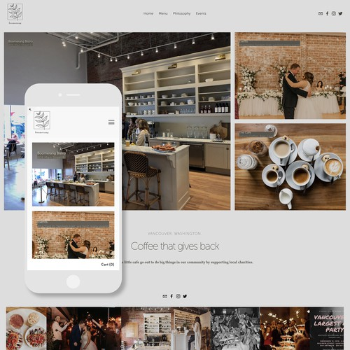 Squarespace Website Design for Non-profit Coffee Shop and Bistro