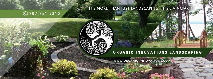 Innovative organic landscape design for Maine landscape company