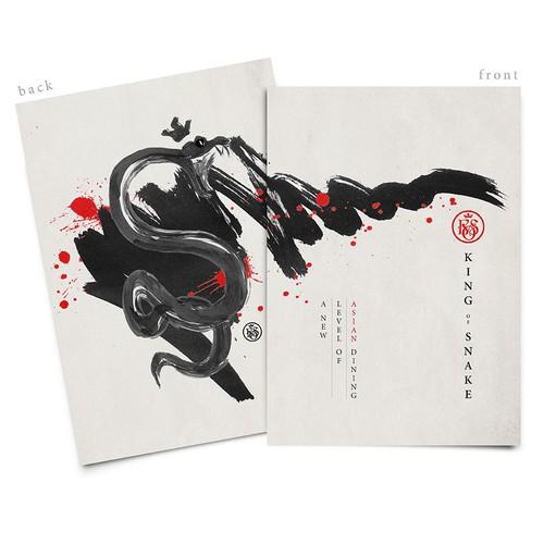 Oriental Illustration for Restaurant Menu
