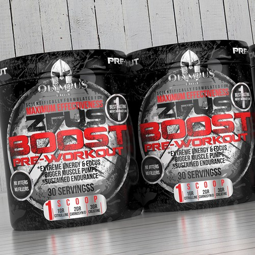 Label design for a new and cutting edge Sports Supplement company (Multiple products will follow)