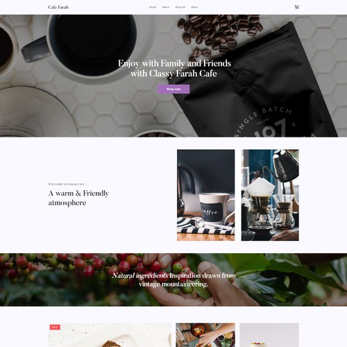Weebly site cafe Templates
