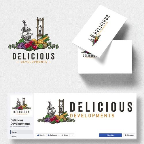 Delicious Developments Logo design entry