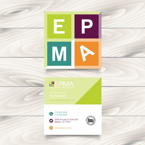 Business Card for tech company, EPMA