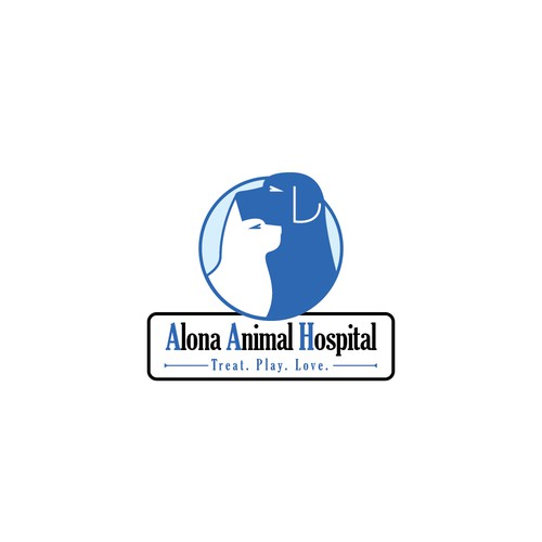 Logo for animal hospital