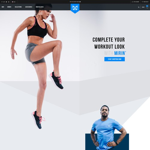 Homepage proposal for Sportswear brand