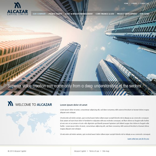website design for Alcazar Capital Limited