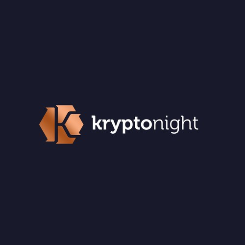 Abstract crypto letter K logo