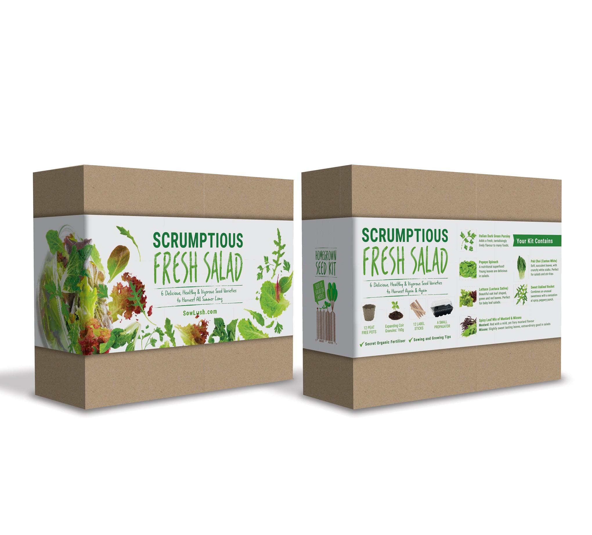 Salad Seed Gift Kit Wrap Packaging