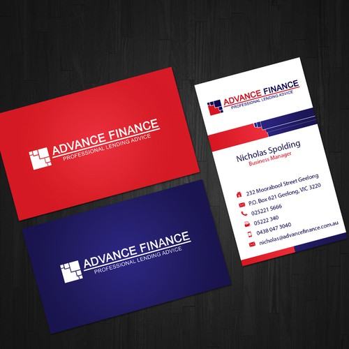Financial Lending Card Concept