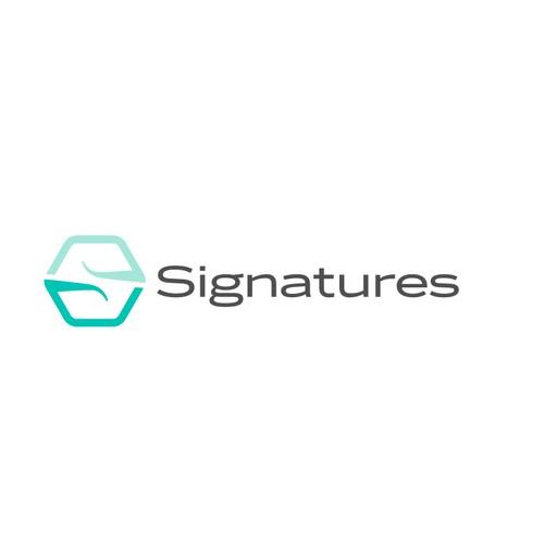 Signatures logo design concept