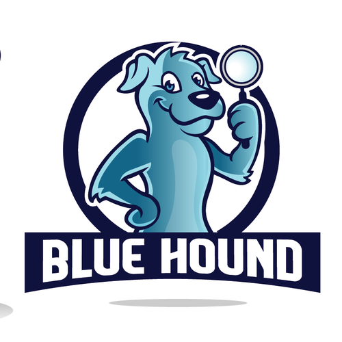 Cartoon Style Logo Design for a product - Blue Hound