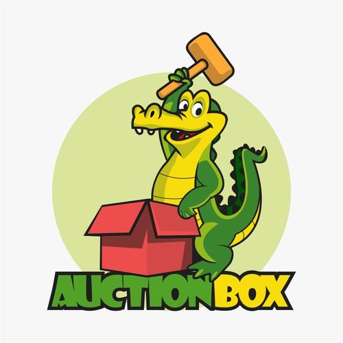 auction mascot logo