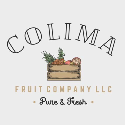 Vintage logo for fruit company