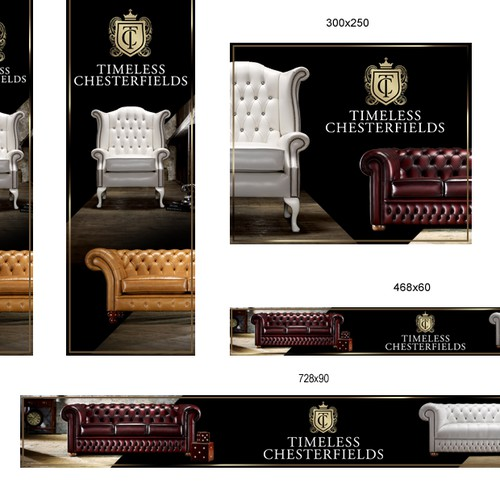 Banner ads design for Timeless Chesterfields