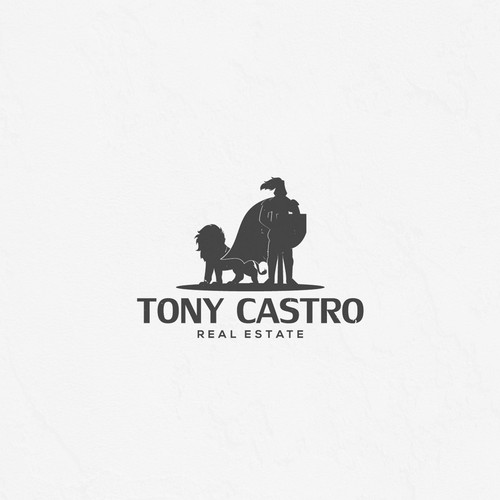 Tony Castro with Lion and Infantry