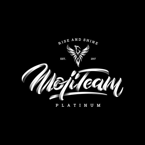 concept logo for mojiteam platinum