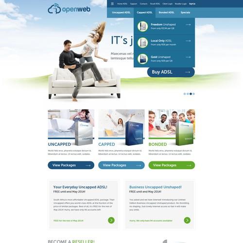 National Broadband Provider requires stunning new website